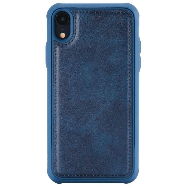 coque cuir iphone xr bleu
