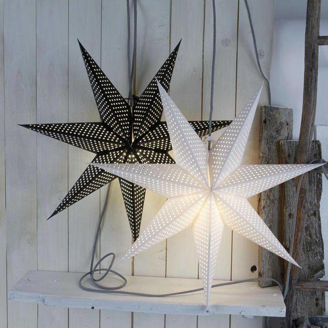 Xmas Living Glass - Huss Star - Etoile lumineuse Blanc Ø60cm 0cm x 60cm x 60cm