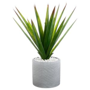 paris prix plante artificielle en pot aloe vera 49cm. Black Bedroom Furniture Sets. Home Design Ideas