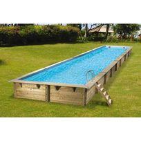 piscine hors sol bois aluminium achat piscine hors sol bois aluminium pas cher rue du commerce. Black Bedroom Furniture Sets. Home Design Ideas