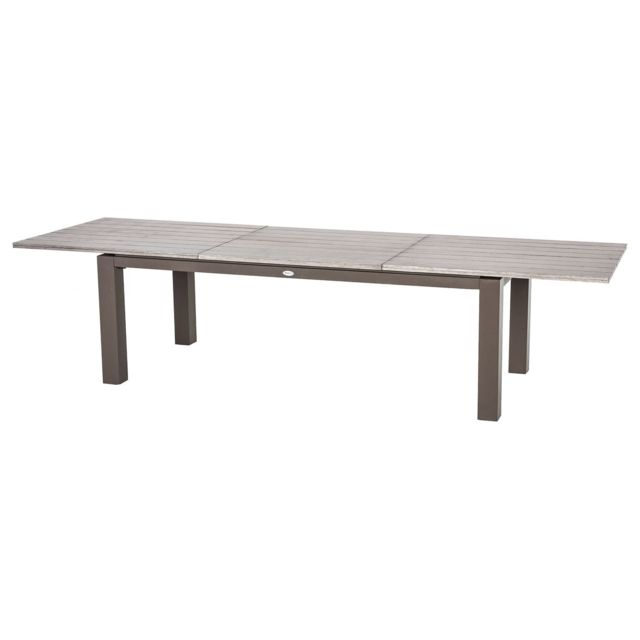Table de jardin extensible 10 Personnes Héraklion - L. 220/320 cm - Gris  tonka