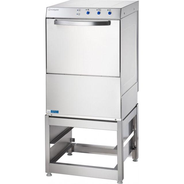 Materiel Chr Pro Lave-Vaisselle Professionnel Inox avec Base Panier 50 x 50 cm - Stalgast - 220V monophase