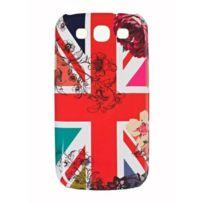 Accessorize - Coque drapeau Angleterre et fleurs Galaxy Siii