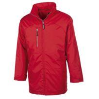 Fashion Cuir - Parka impermeable doublure matelassée Couleur - rouge, Taille Homme - Xxl