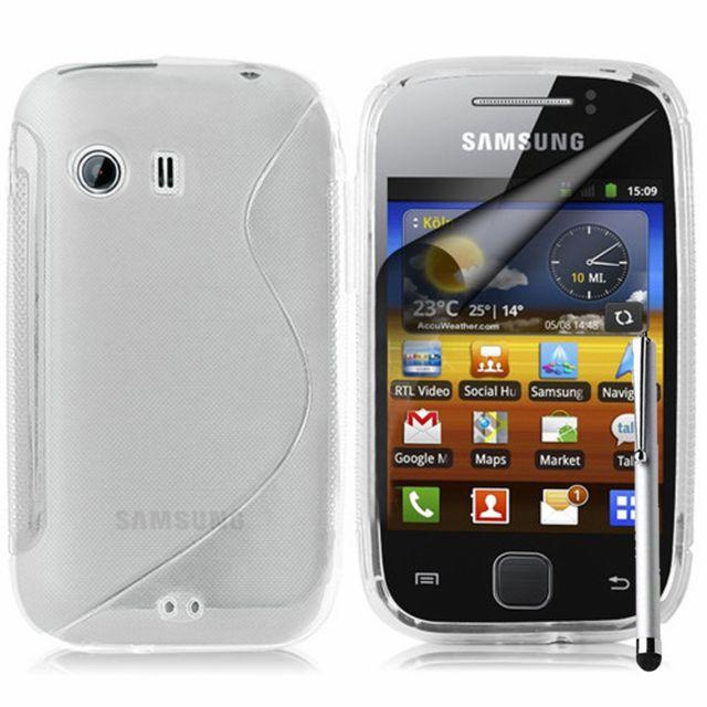 d385e7d246d650 Vcomp - Housse Etui Coque souple silicone gel motif S-line pour Samsung  Galaxy Y