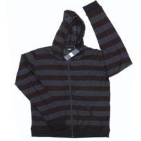 Kr3W - Sweat Zipper Capuche Krew Stripe Black