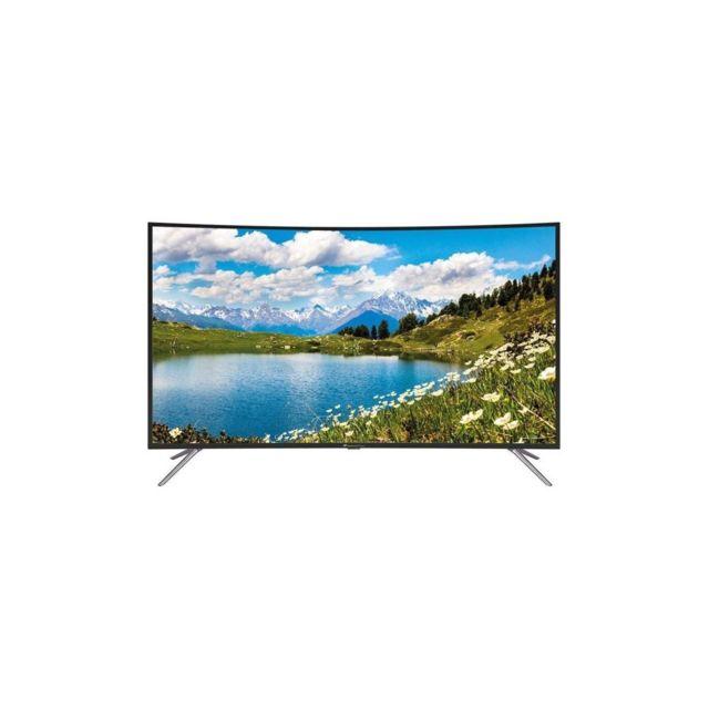 continental edison tv led incurvee 4 k uhd 55 140 cm resolution 3840x2160 3x hdmi 2x usb