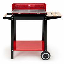 Rocambolesk - Superbe Barbecue Chariot Grill Mobile - Charbon de Bois - Acier Bbq 2 roues ajustable neuf