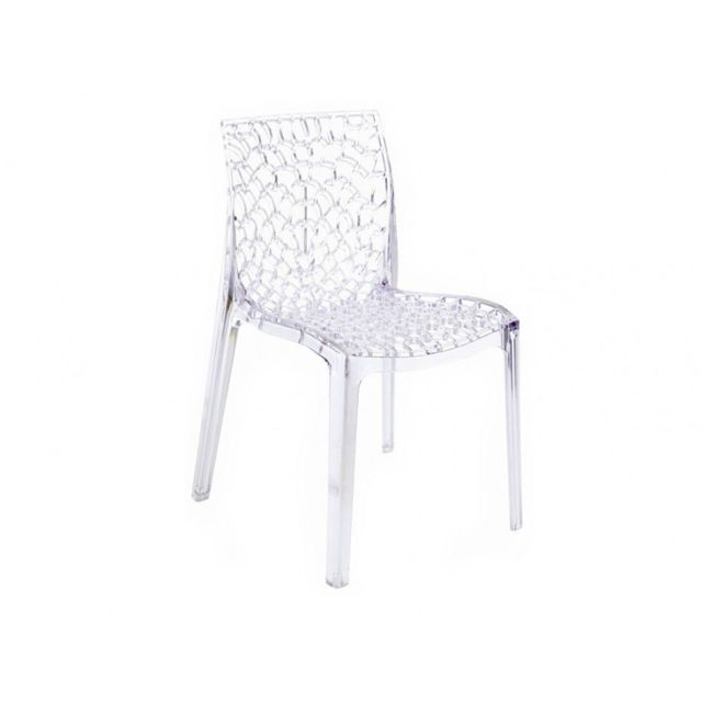 achat chaise en plastique transparent