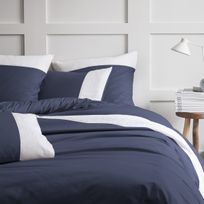 housse de couette bleu nuit achat housse de couette bleu. Black Bedroom Furniture Sets. Home Design Ideas