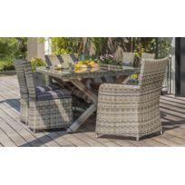 Salon de jardin table ronde resine 8 places - Achat Salon de jardin ...