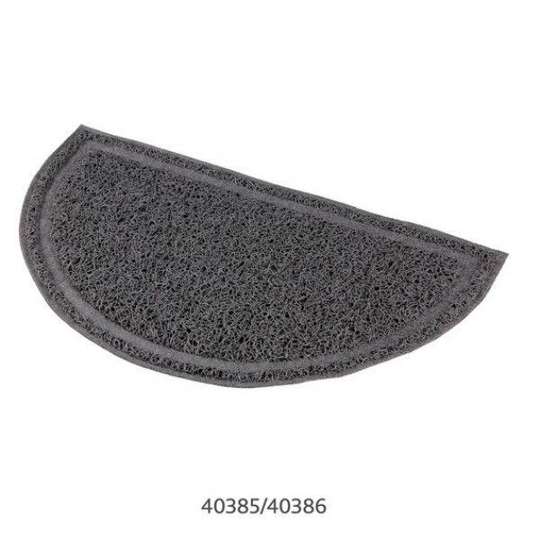 trixie tapis semi circulaire gris en plastique pour bac liti re pas cher achat vente. Black Bedroom Furniture Sets. Home Design Ideas