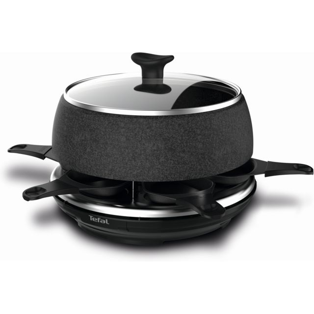 TEFAL Appareil à raclette Cheese'n'co - RE12C812 - Noir/Inox