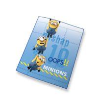Les Minions - Plaid bleu 100% polyester