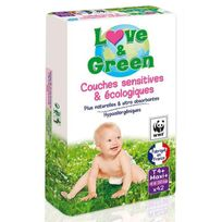 Love And Green - Love & Green - Couches Ecologiques Hypoallergéniques 0% T4+ x42