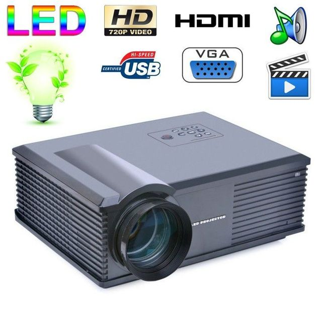 Yonis Vidéoprojecteur Led 170W 3000 Lumens Full Hd 1080P Home cinema Noir