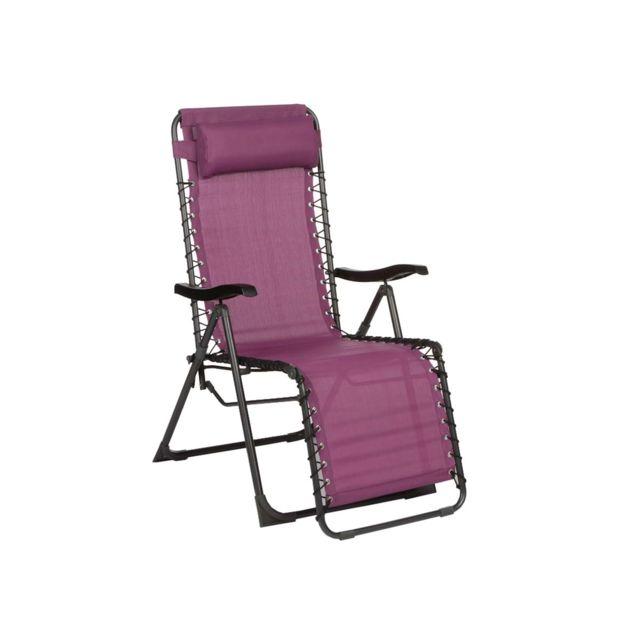 hesperide fauteuil de jardin relax silos prune pas cher achat vente transats chaises. Black Bedroom Furniture Sets. Home Design Ideas