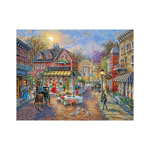 Springbok Puzzles - Cobblestone Village - 350 Piece Jigsaw Puzzle - Large 18 Inches by 235 Inches Puzzle - Made in Usa - Unique Cu