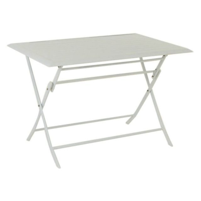 Hespéride Table aluminium Azua 4 places blanc