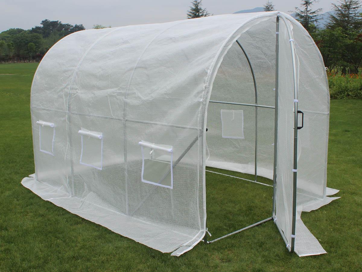 Serre tunnel de jardin avec porte Mimosa - 220g/m2 - 6m² - 3 x 2 x 2 m
