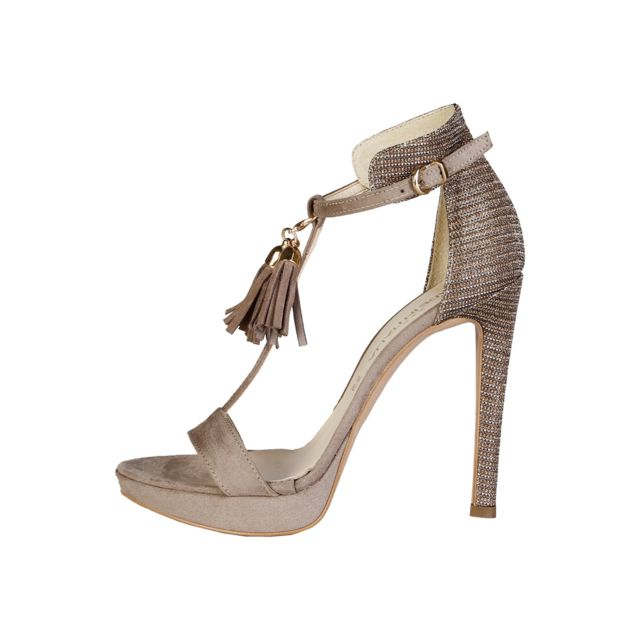 Buzzao - Sandales à talon en daim taupe Made in Italia - Lisa-p ... 81a6bad3229