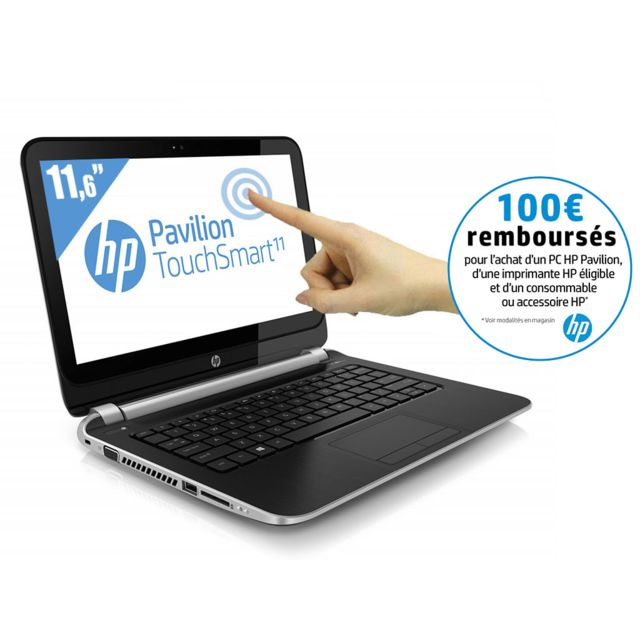 Hp - Pavilion TouchSmart 11-E030EF - Ultra Portable Tactile 11,6'' - AMD A4-1250 1,0 GHz HDD 500 Go - RAM 4 Go - Windows 8