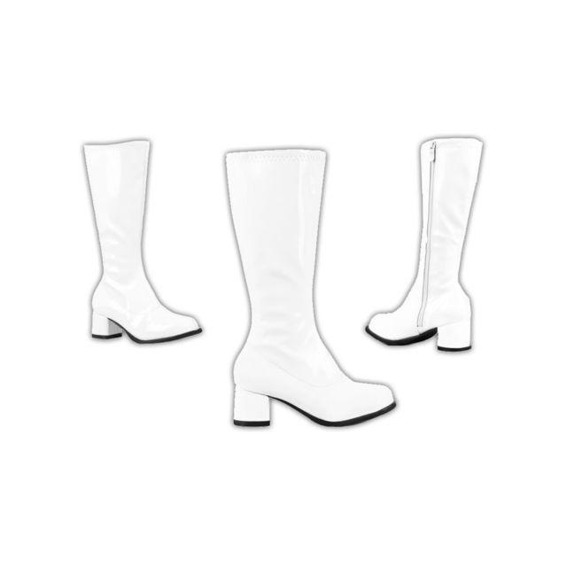 6e09f1e77db Bottes blanches disco pour enfant 30 - pas cher Achat   Vente Accessoires  déguisements - RueDuCommerce