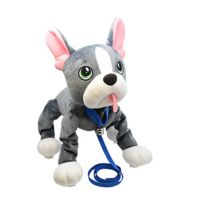 Giochi - Les Peppy Pups toufous Chien bulldog gris