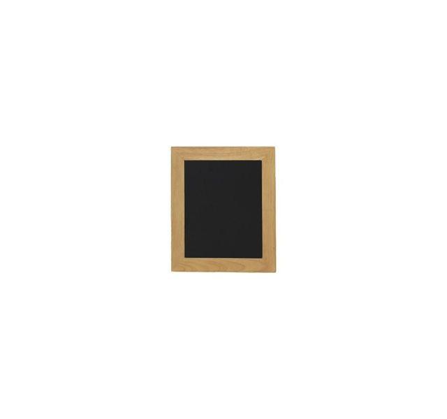 Securit Ardoises murales noires pour cafés et restaurants encadrement bois coloris teck 30x40cm
