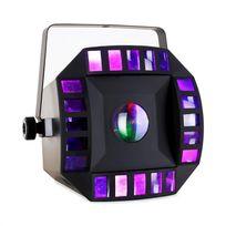IBIZA - LED-Combomoon DMX RGBWA Jeu de lumière LED à commande musicale