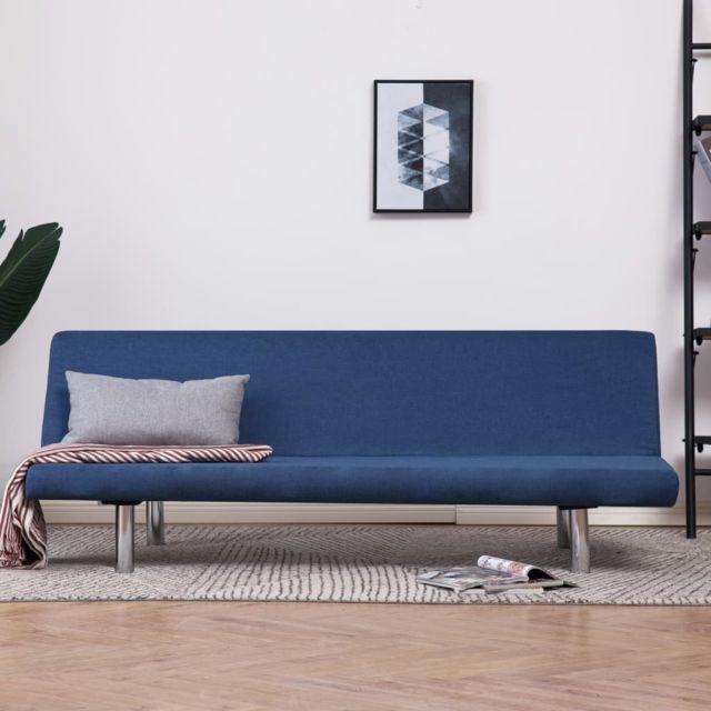 Distingué Meubles gamme Montevideo Canapé-lit Bleu Polyester