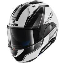 Shark - casque intégral modulable en jet Evo-one Astor Wka moto scooter blanc noir gris L