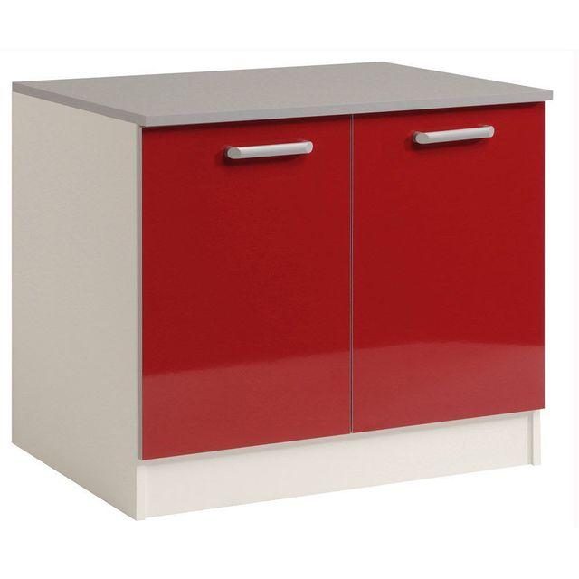 soldes comforium meuble bas de cuisine moderne 120 cm sous vier coloris rouge 0cm x 0cm x 0cm pas cher achat vente meubles de cuisine rueducommerce
