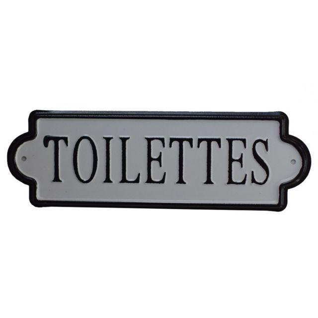 Chemin De Campagne Grande Plaque de Porte Toilettes Wc Fer Métal 25,50x8 cm