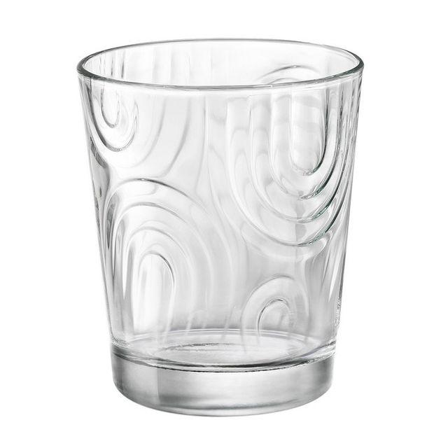 Bormioli Rocco Verre à eau en verre motif spirale transparent 29.5cl - Set de 6 Arches