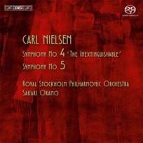 Bis - Carl Nielsen - Symphonies no. 4 et 5 Boitier cristal