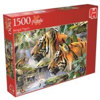 Jumbo - Puzzle 1500 pièces : Tigres du Bengale