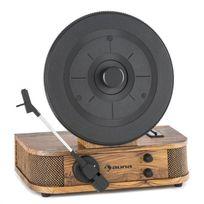 AUNA - Verticalo S Tourne-disque au design rétro Plateau de disque vertical USB MP3