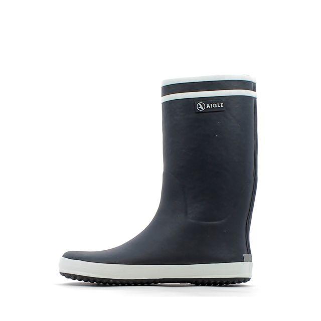 5cc858264ea24 Aigle - Bottes de pluie Lolly Pop Fur Marine - 24 - pas cher Achat   Vente  Boots, bottines - RueDuCommerce