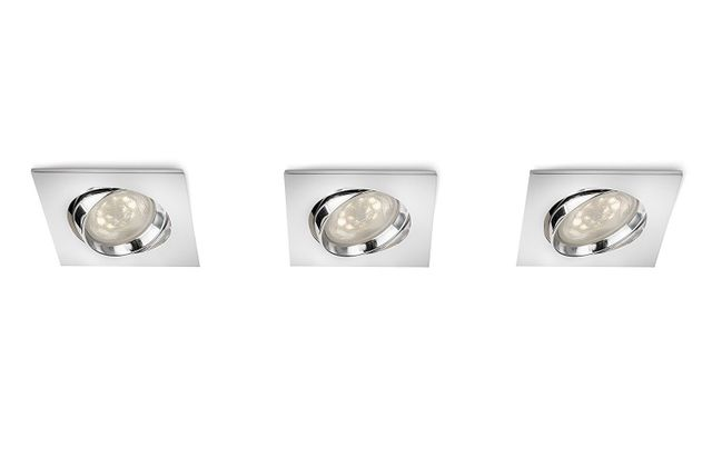 Philips 518285 - Spots encastrables Galileo Led 3 x 4W - Chrome