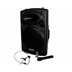 Ibiza Sound - Public adress mobile mp3 800w - 2 mic port15vhf-bt