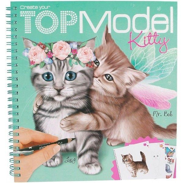 Kontiki album coloriage chat kitty top model 45361 pas cher achat vente pour enfants - Coloriage top model visage ...