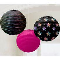 Amscan - Lanternes disco x3