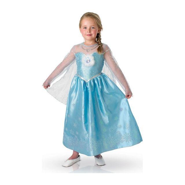 Sans - Coffret Déguisement Elsa La Reine des Neiges fille Luxe - taille - 5  à 415ffebdae5e