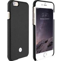 Just Mobile - Coque Quattro Leather noir pour iPhone 6s