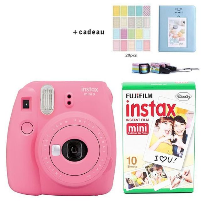 E Thinker Fujifilm Instax Mini 9 Appareil Photo Instantane Rose