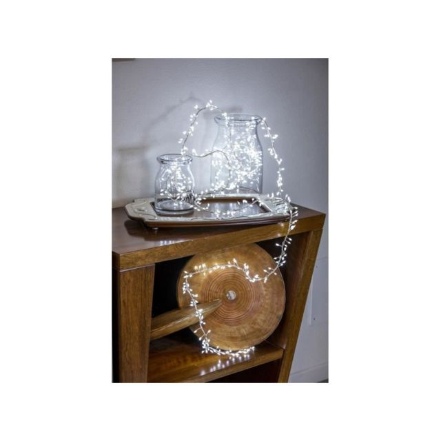 Akasa Lotti Guirlande lumineuse grappe - 600 micro-LED MiniCluster Ø5 cm - Blanc froid - 5 m