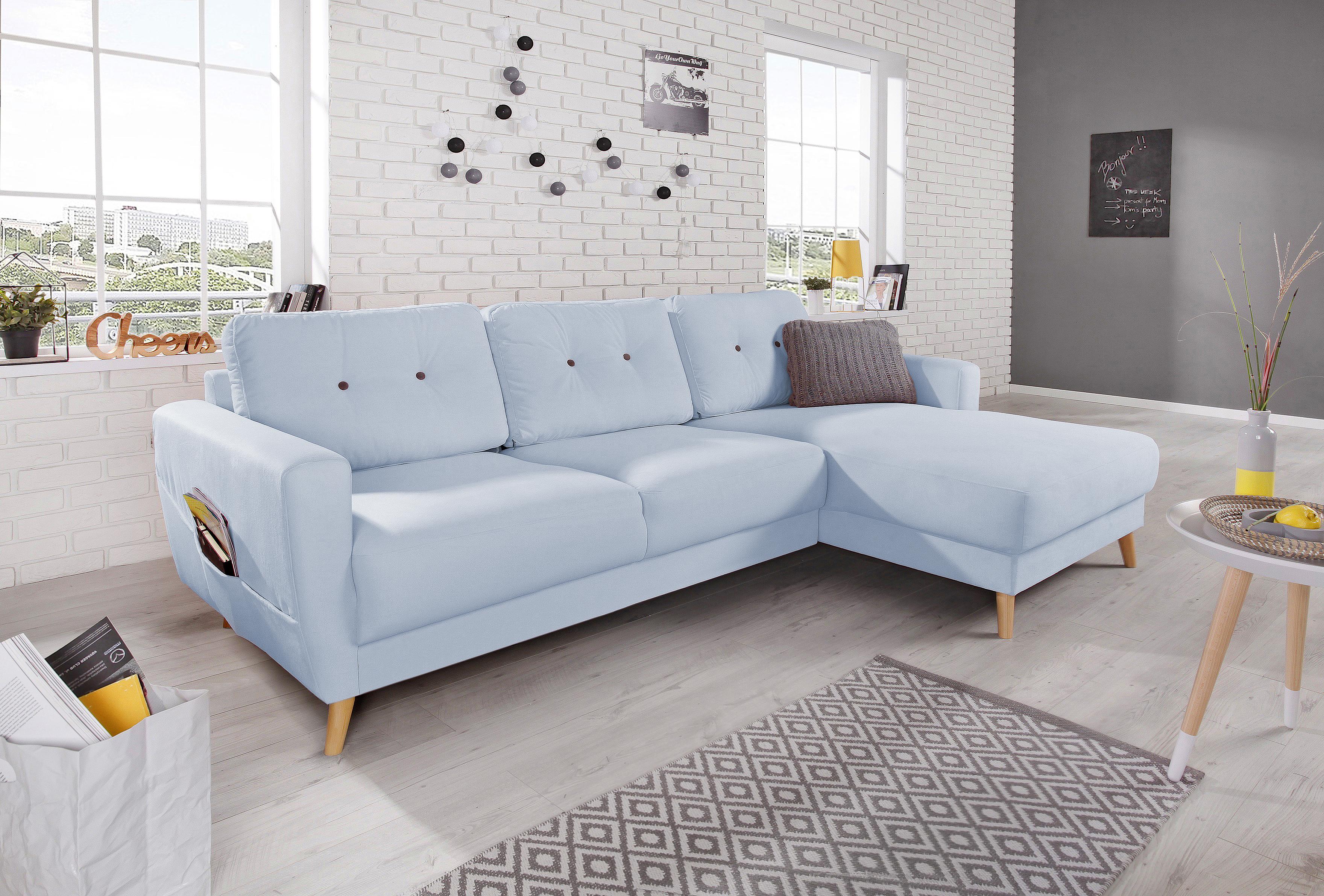 bobochic oslo canap d 39 angle droit bleu poudr 225x147x86cm achat vente canap s pas. Black Bedroom Furniture Sets. Home Design Ideas