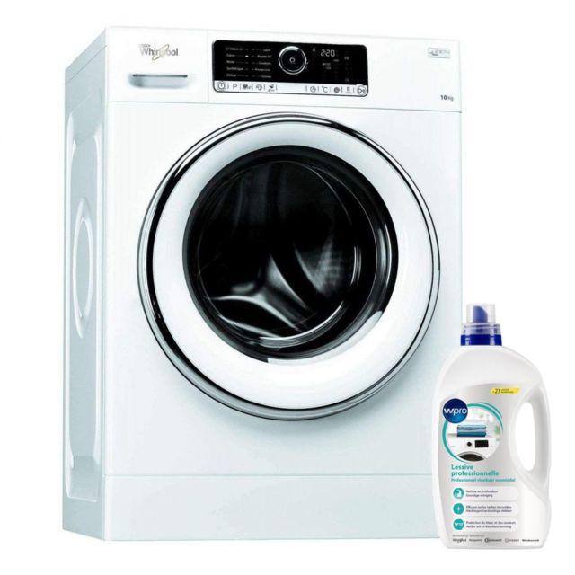 Whirlpool Lave Linge Frontal 10kg A+++ 1400trs/min Tambour 64L Zen Technologie Machine à laver hublot