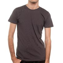 Newoutwear - T-shirt New OutWear M002006 Col Rond Gris Anthracite